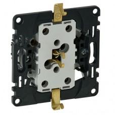Механизм розетки Legrand Valena In'matic 753027 двухместный с заземлением черный