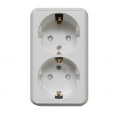 Schneider Electric Прима RA16-214-B двухместная белая