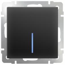 Механизм выключателя Werkel WL08-SW-1G-LED одноклавишный с индикатором черный матовый