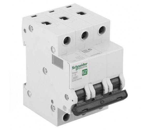 Автоматический выключатель Schneider Electric EASY 9 3П C 16А 4,5кА