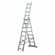 Лестница трехсекционная алюминиевая Krause Corda 010385 3х8