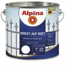 Alpina Direkt auf Rost гладкая RAL 9016 белая 0,75 л