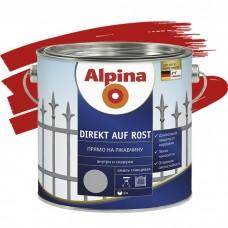 Alpina Direkt auf Rost гладкая RAL 3000 красная 0,75 л