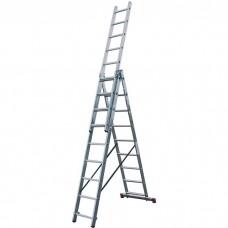 Лестница трехсекционная алюминиевая Krause Corda 010392 3х9