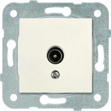 Механизм розетки телевизионной проходной Panasonic Karre Plus WKTT04522BG-RES 12dB одноместный кремовый