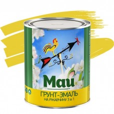 Грунт-эмаль по ржавчине Май 3 в 1 желтая 1,9 кг