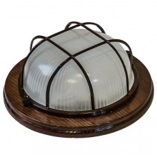 Светильник для бани и сауны Italmac Termo 60 01 16 накладной с решеткой 100 Вт Венге