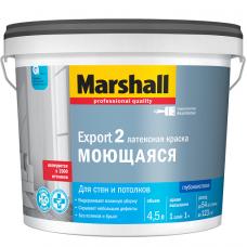 Краска для стен и потолков Marshall Export-2 база BC глубокоматовая 4,5 л