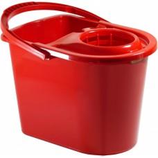 Ведро мерное с отжимом 14 л красное