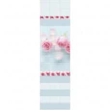 Стеновая панель ПВХ Novita фриз 3D Ледяная роза узор 2700x250 мм