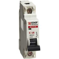 Автоматический выключатель EKF ВА 47-63, 1п (ЭКФ)/32А (С) 6кА