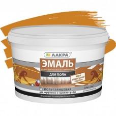 Эмаль акриловая Лакра для пола золотисто-коричневая 2,4 кг
