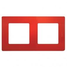 Рамка двухместная Legrand Etika 672532 красная
