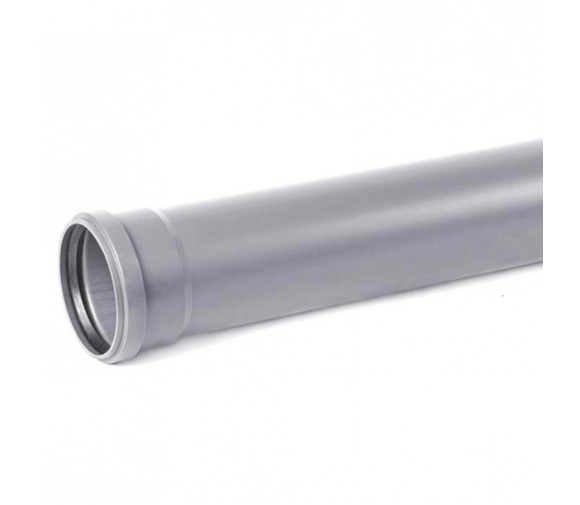 Труба канализационная ПВХ Хемкор Ду 110х3,2х500 мм с кольцом