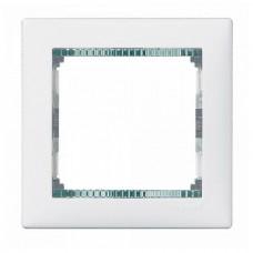 Рамка одноместная Legrand Valena 694243 белая/кристалл