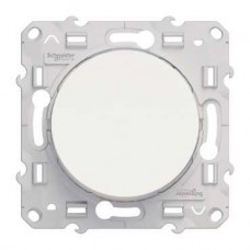 Механизм переключателя Schneider Electric Odace S52R203 одноклавишный белый с индикатором
