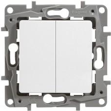Механизм переключателя Legrand Etika 672212 двухклавишный белый