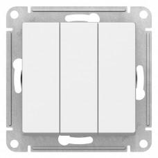 Механизм выключателя Schneider Electric AtlasDesign ATN000131 трехклавишный белый