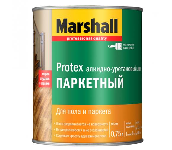 Лак паркетный Marshall Protex матовый 0,75 л
