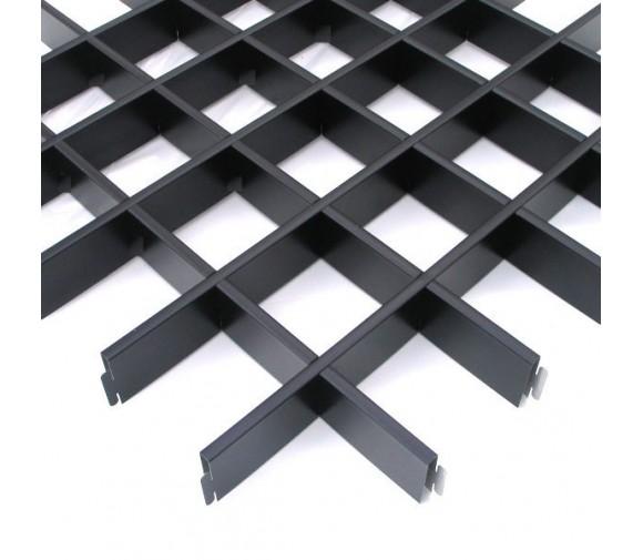 Потолок грильято Cesal Классический Эконом черный 150х150х40 мм