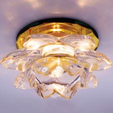 Светильник точечный встраиваемый Italmac Bohemia 220 16 73 G9 золото 40 Вт