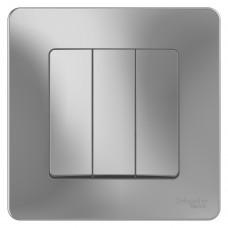 Выключатель Schneider Electric Blanca BLNVS100503 трехклавишный алюминий
