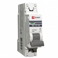 Автоматический выключатель EKF Proxima ВА 47-63 1P 4,5 кА 63А С