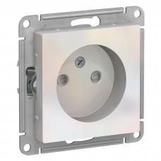 Механизм розетки Schneider Electric AtlasDesign ATN000449 одноместный без заземления с защитными шторками жемчуг