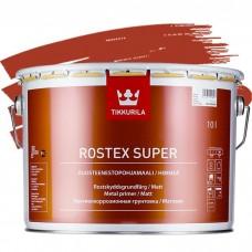 Грунтовка противокоррозионная Tikkurila Rostex Super красно-коричневая 10 л