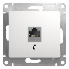 Механизм телефонной розетки Schneider Electric Glossa GSL000181T RJ11 одноместный белый