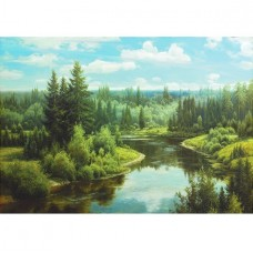 Фотообои виниловые на флизелиновой основе Decocode Сказочный пейзаж 41-0415-PG 4х2,8 м