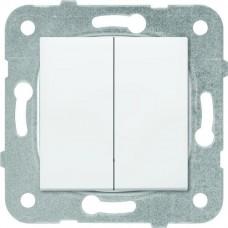 Механизм выключателя Panasonic Karre Plus WKTT0009-2WH-RES двухклавишный белый