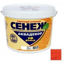 Антисептик тонирующий Сенеж Аквадекор 108 Черешня 0,9 кг