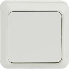 Выключатель одноклавишный О/У белый
