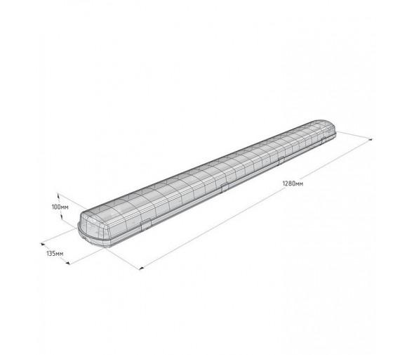 Светильник светодиодный DMS ДСП DMS-P1-030-DS4-PO с прозрачным рассеивателем 30 Вт 4200 К