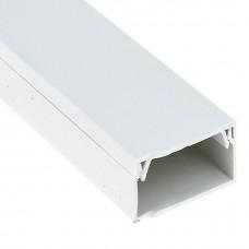 Кабель-канал EKF-Plast Proxima 80х60 мм с двойным замком белый