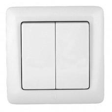 Выключатель Schneider Electric Хит VS56-234-B двухклавишный белый
