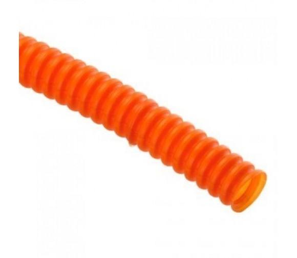 Труба ПНД гофрированная EKF Proxima d16 мм оранжевая с зондом 100 м
