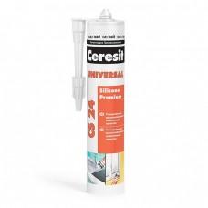 Герметик силиконовый Ceresit CS 24 универсальный белый 280 мл