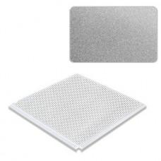 Потолок кассетный Cesal Standart Tegular K90 Металлик серебристый 3313 с перфорацией 595х595 мм