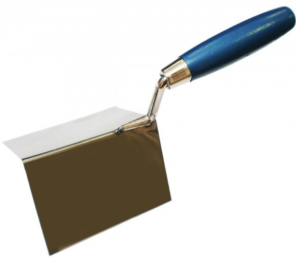 Кельма угловая ПРОФИ (внешняя) деревянная ручка CrV 75х75х110