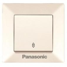 Переключатель Panasonic Arkedia WMTC00032BG-RES одноклавишный проходной кремовый