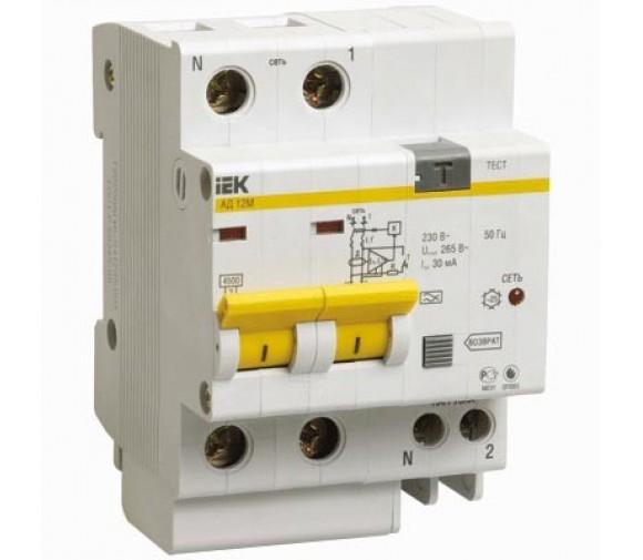 Автоматический выключатель дифференциального тока IEK АД12М 2Р С50 30мА