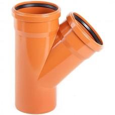 Тройник ПВХ Pestan канализационный 500х250 мм угол 45 градусов