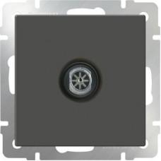 Механизм телевизионной розетки Werkel WL07-TV-ivory одноместный оконечной серо-коричневый
