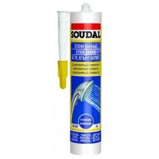 Герметик силиконовый Soudal санитарный прозрачный 300 мл