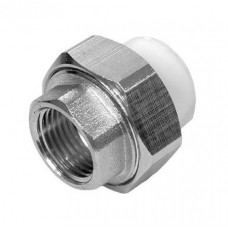 Муфта разъемная Американка PPRC FDplast 20 мм 3/4 дюйма с внутренней резьбой белая