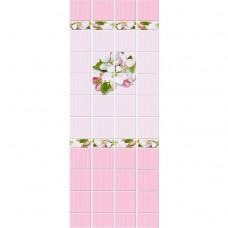 Стеновая панель ПВХ Кронапласт Unique Яблоневый цвет розовый 2700х250 мм