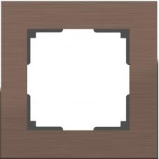 Рамка одноместная Werkel Aluminium WL11-Frame-01 коричневый алюминий
