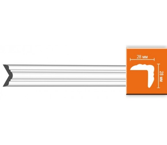 Молдинг полиуретановый Decomaster DP-332 2400х28х28 мм